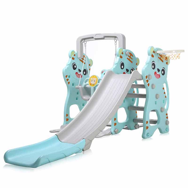 Spielgerüst Mit Rutsche Für Indoor Outdoor In Türkis Grau Baby Vivo